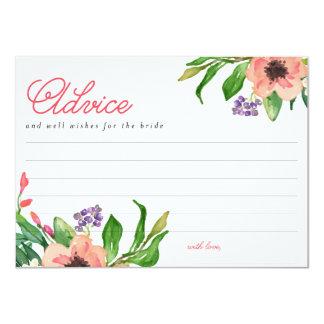 """Tarjeta nupcial floral del consejo de la ducha de invitación 4.5"""" x 6.25"""""""