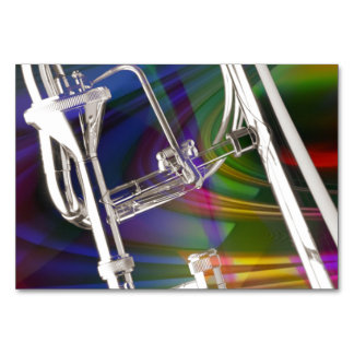 Tarjeta o invitación del Trombone de diapositiva