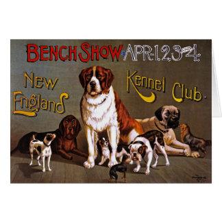 Tarjeta o Invitiation: Exposición canina, circa 18