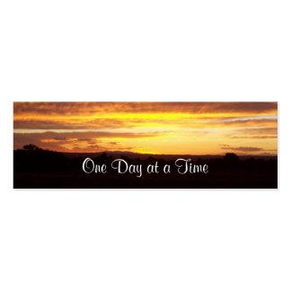 tarjeta o señal del perfil de la puesta del sol tarjetas de visita mini