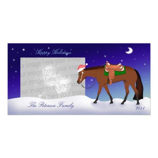 Tarjeta occidental de la foto del día de fiesta tarjeta con foto personalizada