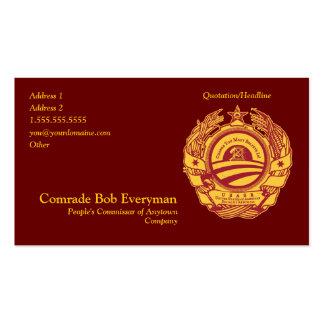 Tarjeta oficial del Commissar de la pieza de Obamm Tarjetas De Negocios