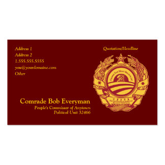Tarjeta oficial del Commissar de la pieza de Tarjetas De Visita