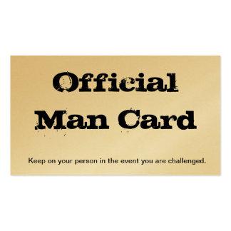 Tarjeta oficial del hombre plantillas de tarjetas personales