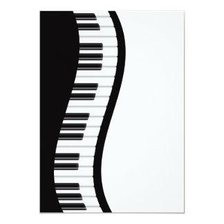 Tarjeta ondulada de la invitación del teclado de invitación 12,7 x 17,8 cm