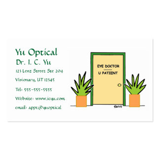 Tarjeta óptica del negocio o de la cita del dibujo tarjetas de visita
