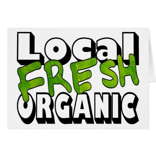 Tarjeta orgánica fresca local