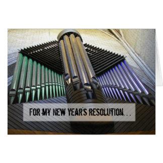 Tarjeta organizada del Año Nuevo