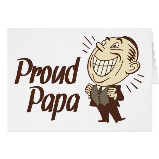 Tarjeta orgullosa de la papá