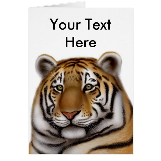 Tarjeta orgullosa del personalizable del tigre de