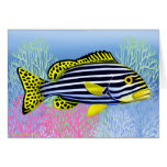 Tarjeta oriental de los pescados del filón de Swee