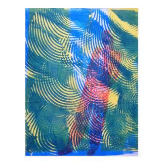 Tarjeta original del arte de Monoprint Postales