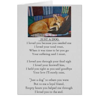 tarjeta original del poema de la condolencia del