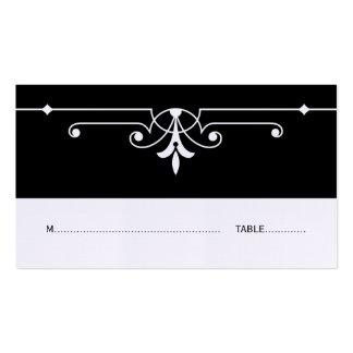 Tarjeta ornamental de lujo del lugar del ébano tarjetas de visita