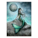 Tarjeta oscura de la sirena de la luna por Molly H