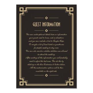 """Tarjeta oscura del parte movible del boda del invitación 4.5"""" x 6.25"""""""