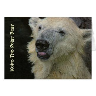 Tarjeta: Oso polar sonriente Tarjeta De Felicitación