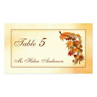 Tarjeta otoñal del lugar de la ocasión especial de plantilla de tarjeta de visita