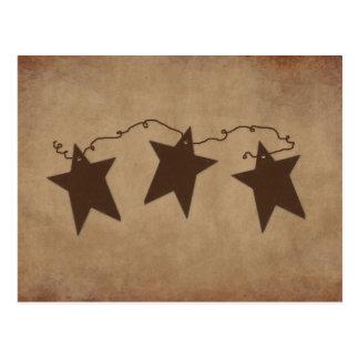 Tarjeta oxidada de la receta de las estrellas postales