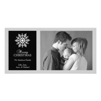 Tarjeta pacífica de la foto del navidad del copo d tarjeta fotografica personalizada