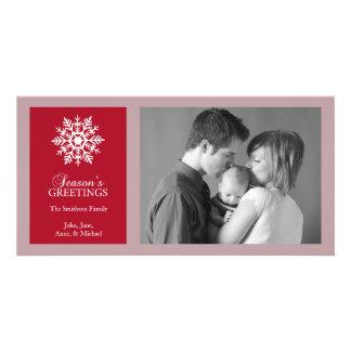 Tarjeta pacífica de la foto del navidad del copo d tarjetas fotograficas personalizadas