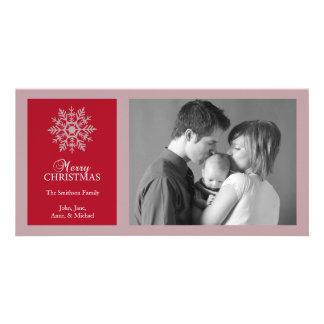 Tarjeta pacífica de la foto del navidad del copo d tarjeta personal
