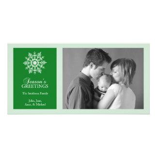Tarjeta pacífica de la foto del navidad del copo d tarjetas personales con fotos