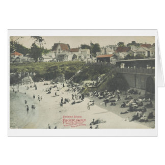 Tarjeta pacífica de la playa de la arboleda Ca