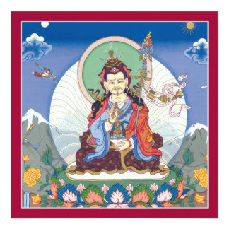 "TARJETA Padmasambhava - tarjeta cuadrada con el Invitación 5.25"" X 5.25"""