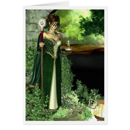 Tarjeta pagana - alcohol del bosque