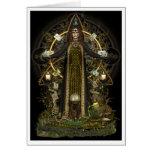 Tarjeta pagana - bruja del Tarot