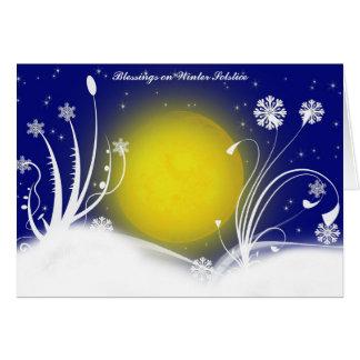 Tarjeta pagana de las bendiciones del solsticio de