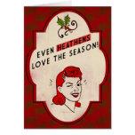 tarjeta pagana del día de fiesta del Retro-estilo