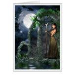 Tarjeta pagana - diosa de la luna