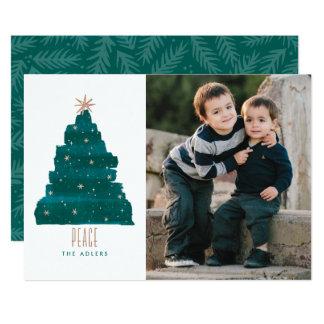 """Tarjeta Painterly de la foto del navidad del árbol Invitación 5"""" X 7"""""""