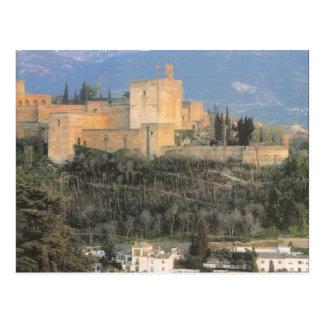 tarjeta paisaje Alhambra Granada Postales