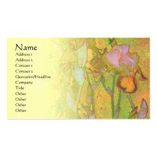 Tarjeta pálida del perfil de la mezcla de la fila tarjeta de visita