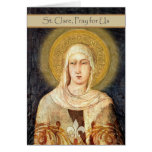 Tarjeta para el día de banquete de St. Clare,