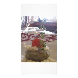 Tarjeta para gourmet tarjeta personal con foto