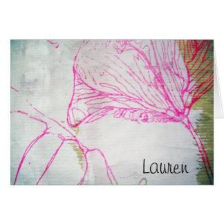 Tarjeta para Lauren