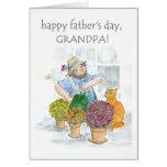 Tarjeta para un abuelo - jardinero del día de