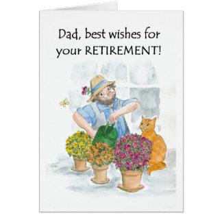 Tarjeta para un padre - jardinero del retiro