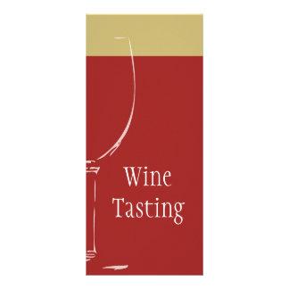 Tarjeta para un WineTasting o un acontecimiento Tarjeta Publicitaria A Todo Color