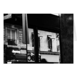 Tarjeta parisiense de la atmósfera Windows y de