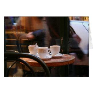 Tarjeta parisiense de la huésped o del fantasma