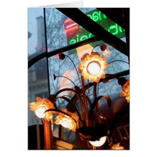Tarjeta parisiense de las lámparas y de las