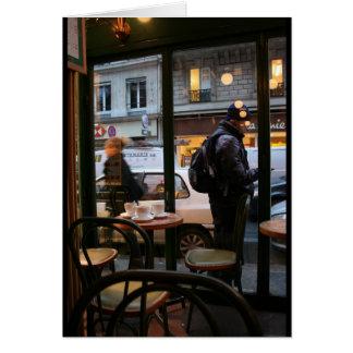 Tarjeta parisiense de Rambuteau Beaubourg de la