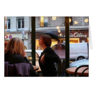 Tarjeta parisiense de Rambuteau de la ruda de