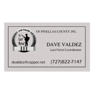 Tarjeta pasada del coordinador de la patrulla tarjetas de visita