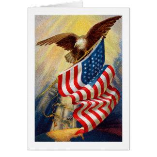 Tarjeta patriótica de Eagle